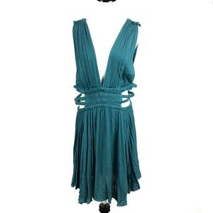 NEW Free people green crepe midi dress